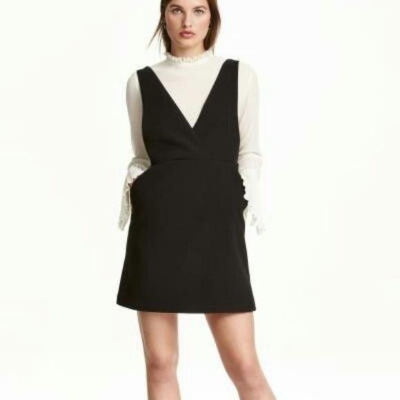 c7881c24ec0a H&M Dresses | Hm Black Pinafore Dress | Poshmark